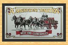 WEST END  BREWING COMPANY  CLYDESDALE  HORSES  BAR RUNNER  BAR MAT