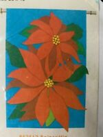 Poinsettia Decorative House Flag