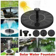 Solar Powered Fountain Floating Bird Bath Water Fountain Pump Garden Pond Pool