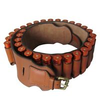 Tourbon Hunting 20GA Gauge Cartridges Belt Shotgun Shotshell Ammo Holder Leather
