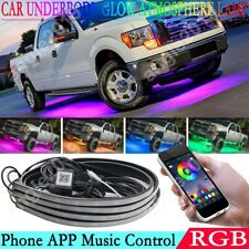 Phone App Control For Ford F-Series Rgb Led Underbody Underglow Neon Light Strip
