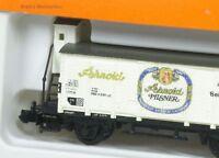 N ged. Güterwagen m. Brhs. Arnold Pilsner Arnold 4278 NEU OVP