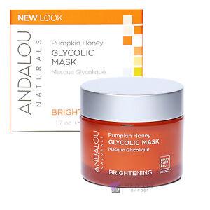 Andalou Naturals Glycolic Face Mask Pumpkin Honey 50g | Puffy Eye Treatment