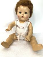 """Vintage American Character Tiny Tears Doll 12"""" Rockabye Eyes Original Outfit"""