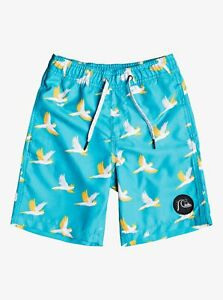 Quiksilver Little Boy's Elastic Boardshorts COCKATOO VOLLEY - BLY6 - Size 7 -NWT