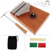17 Key Kalimba Single Board Mahogany Thumb Piano Mbira Mini Keyboard Instrument