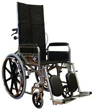 """18"""" Stylish Deluxe Steel Reclining Wheelchair Recliner Portable"""