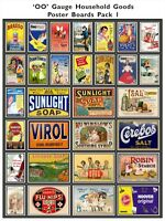 Model Railway Poster Advert Packs - Lots of packs to choose from - OO Gauge 4mm
