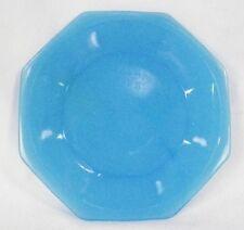 Vintage Blue Akro Agate Octagonal Plate fr Childs Tea Set American Maid Large