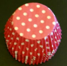 50 Hot Pink&White POLKADOT Cupcake Liners Baking Cups STANDARD SIZE BC-21-50 NEW