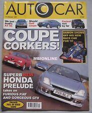 AUTOCAR 15/1/1997 featuring Alfa Romeo GTV, Fiat Coupe Turbo, Honda Prelude
