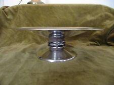 Art Deco silverplate & wood Christofle Centerpiece Bowl designed by Luc Lanel