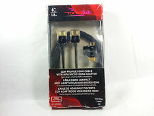 Rocketfish Low Profile HDMI Cable w/Mini&Micro HDMI Adapter,Universal, Open Box