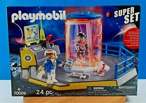 Playmobil Police Galaxy Rangers Space Prison #70009 LED Lighting Super Set New