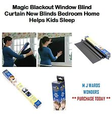 Magic Blackout Window Blind Curtain New Blinds Bedroom Home Helps Kids Sleep