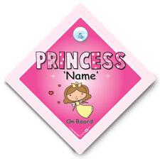 Princesa A Bordo Coche Firmar, Personalizado Princesa signo de coche, señal de coche personalizado