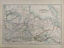 1897 SASKATCHEWAN MANITOBA ASSINIBOIA KEEWATIN ANTIQUE MAP A & C BLACK
