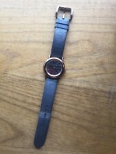MARC JACOBS Leather Rose Gold Ladies Watch Gift Brown Womans Designer