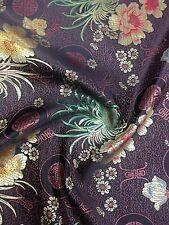 Brocart Chinois Floral Fleurs Oriental Asiatique multicolore tissu