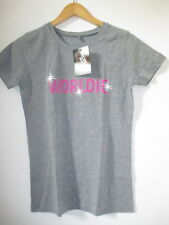 T SHIRT FEMME WORLDIE GEORDIE SHORE OFFICIAL TAILLE M ETHICAL TRADE