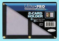 ULTRA PRO BLACK FRAME 2 CARD SCREWDOWN HOLDER New Clear Wall Storage Display