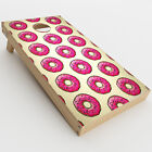 Skin Decal for Cornhole Game Board 2xpcs. / Pink Sprinkles Donuts