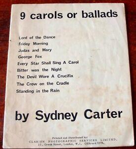 SYDNEY CARTER 9 CAROLS BALLADS SONG BOOK 1964 LORD OF THE DANCE FOLK CHRISTIAN