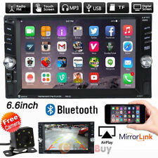 "6.6""HD Double 2DIN Bluetooth Touch Screen Car Radio Stereo MP5 MP3 Player HD+Cam"