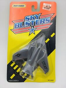 1995 MATCHBOX SKYBUSTERS Lockheed USAF F117-A STEALTH FIGHTER HAWK 1:187 Plane