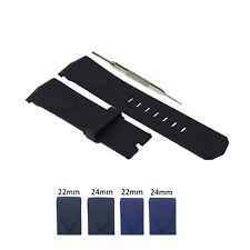 22mm, 24mm Silicone Rubber Watch Strap Band Fits For Corum Admirals Cup W/ Tool