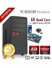PC AMD APU A8 X4 9600 Quad Core/Ram 8GB/PC Assemblato Barebone Computer Desktop