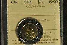 Canada 2003 Toonie - ICCS - MS-65 -