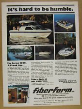 1978 FiberForm Series 2000 Boats color photos vintage print Ad