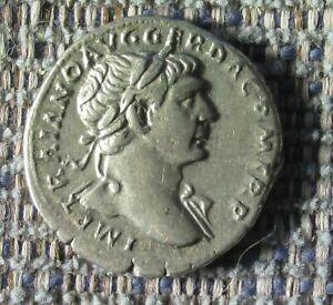 TRAJAN Roman silver denarius  nice coin