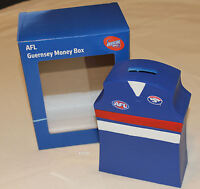 Western Bulldogs AFL Guernsey Shape Money Box 16cm Resin Hand Painted New