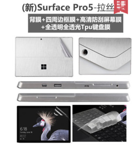 Full Body Protective Stickers Skins+Glass Film+keyboard cover For Surface Pro4/5