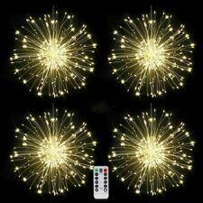 4pcs Starburst Firework String Lights Hanging 120 LED 8 Modes Christmas Garden