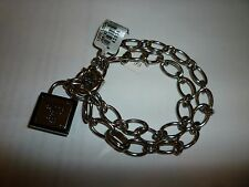 NWT Brighton My Flat in London Love Locks Padlock Charm Necklace Bracelet JB5932