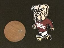 "Mississippi State Bulldogs MSU 1 1/4"" Walking Bulldog Mascot Logo Patch College"