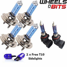 2 H7 HB4 H7 55w HALOGEN HID XENON GAS FILLED BULBS upto 50% BRIGHTER Cool Blue