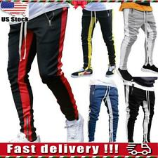 Mens Gym Slim Fit Tracksuit Bottoms Skinny Jogging Joggers Sweat Pants Trousers