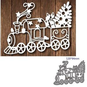 Train Gift Metal Cutting Dies Stencil Embossing Scrapbooking Stamping Album Card
