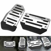 2X Non-Slip Automatic Gas Brake Foot Pedal Pad Cover Car Accessories Silve EOA