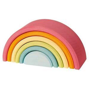 Grimm´s Regenbogen mittel  pastell  Waldorf   6-teilig Bauklötze 10701