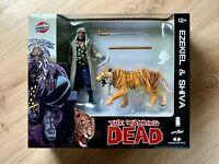 The Walking Dead - Ezekiel & Shiva Tiger Figures, Skybound Excl, McFarlane Toys
