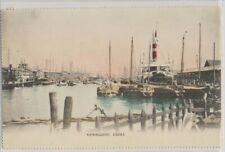 Japan Kawaguchi Osaka Port on c. 1905 Vintage Real Photo Hand Tinted Card