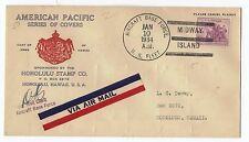 Transocean Rcd #1200 Related,Signed Naval Flight Flown To Hawaii 1/10-11/34