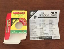The Simpsons Glo Caps Opened Box Packaging With Original Checklist 1994 Series 1