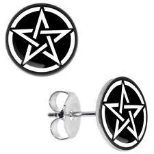 PENTAGRAM STUD EARRINGS  pentacle pagan wiccan mystical witch god star