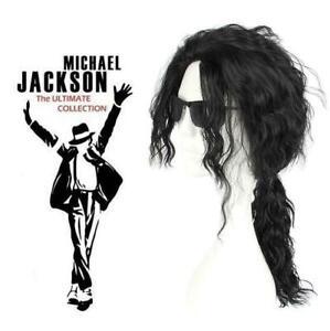 Fashion Michael Jackson curly Wig Long Heat COSPLAY Black Wigs